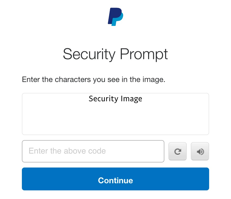 PayPal Security Prompt